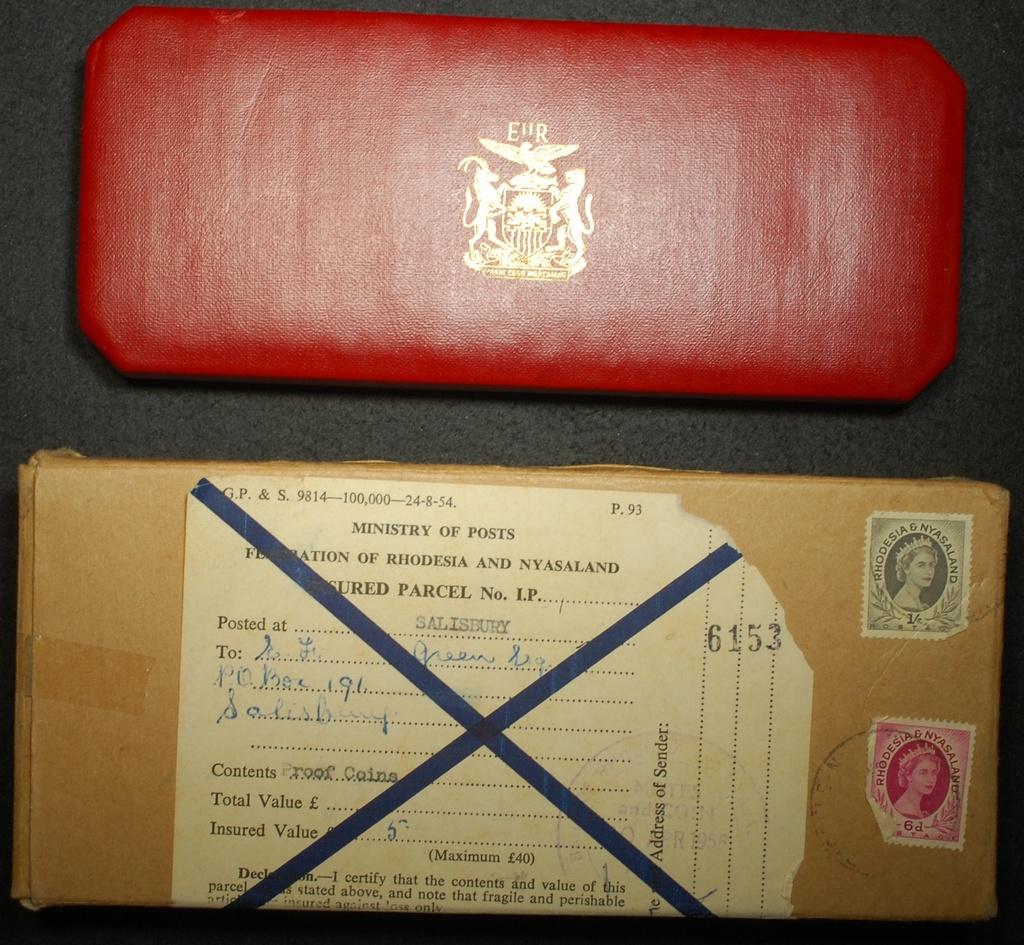 Rhodesia and Nyasaland 1955 Silver Proof Set