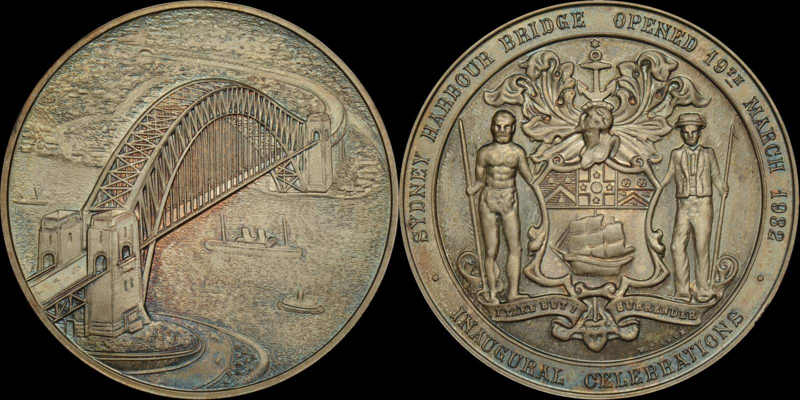 Sydney Harbour Bridge Medal c1932/5