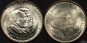 USA 1952 50c Booker T Washington and Washington Carver