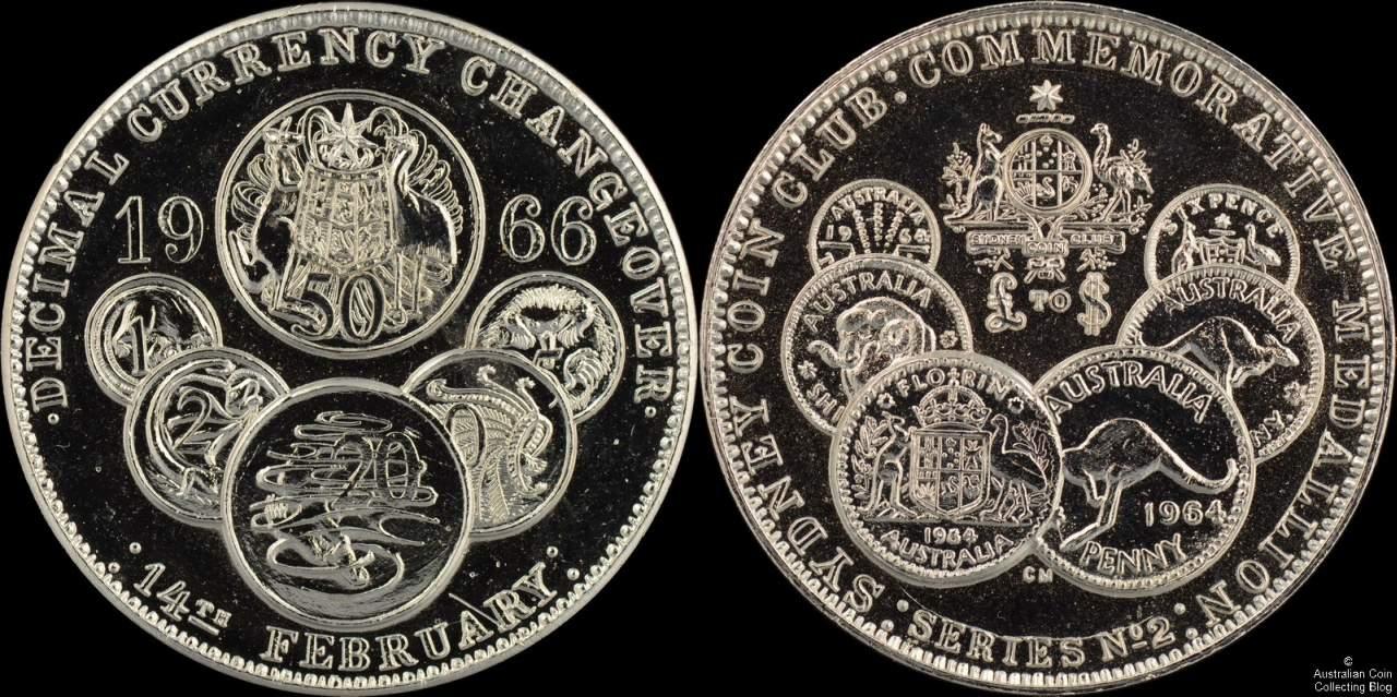 Australia 1966 Sydney Coin Club Decimal Currency