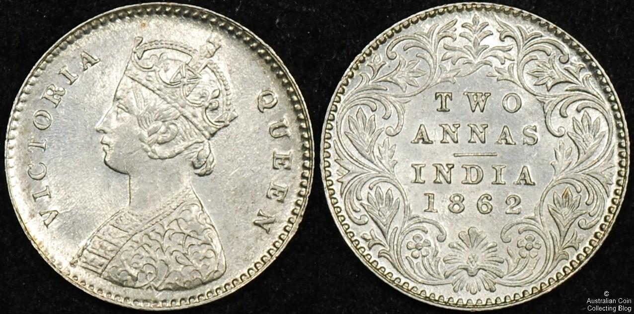 India 1862 2 Annas UNC