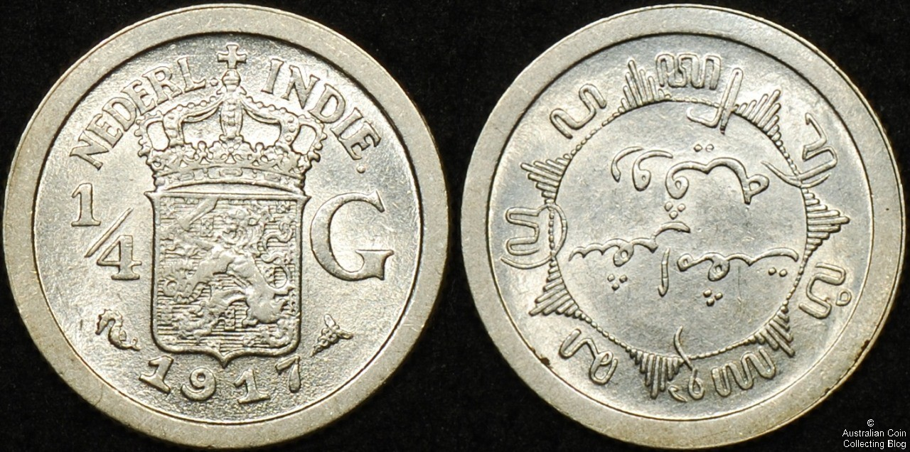 Netherlands East Indies 1917 1/4G EF