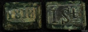 "Netherlands East Indies 1818 1 Stuiver ""Bonk"""
