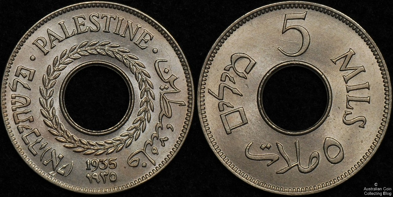 Palestine 1935 5 mils PCGS MS66