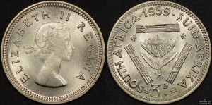 South Africa 1959 Threepence