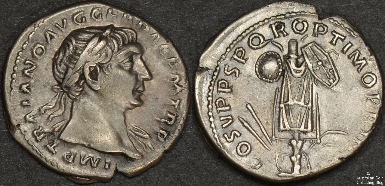 Trajan Denarius RIC 147b