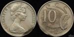 1966 10 Cent Incomplete Planchet