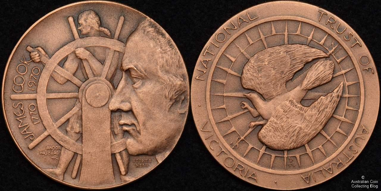 1970 Captain James Cook National Trust of Australia Victoria Medal in Copper