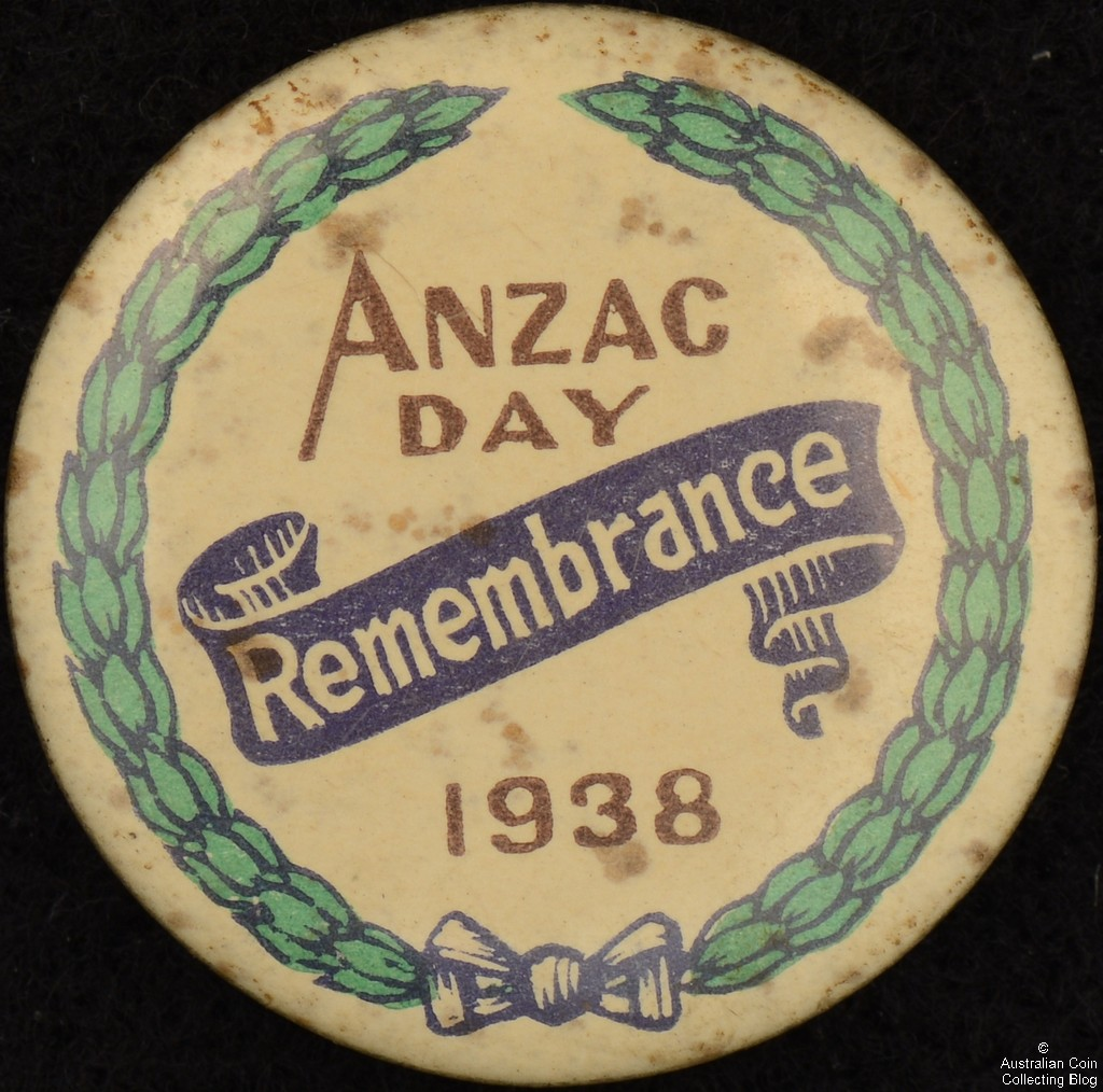 ANZAC Day Remembrance 1938 Tin Badge