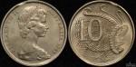Australia 1966 10 cent clipped planchet