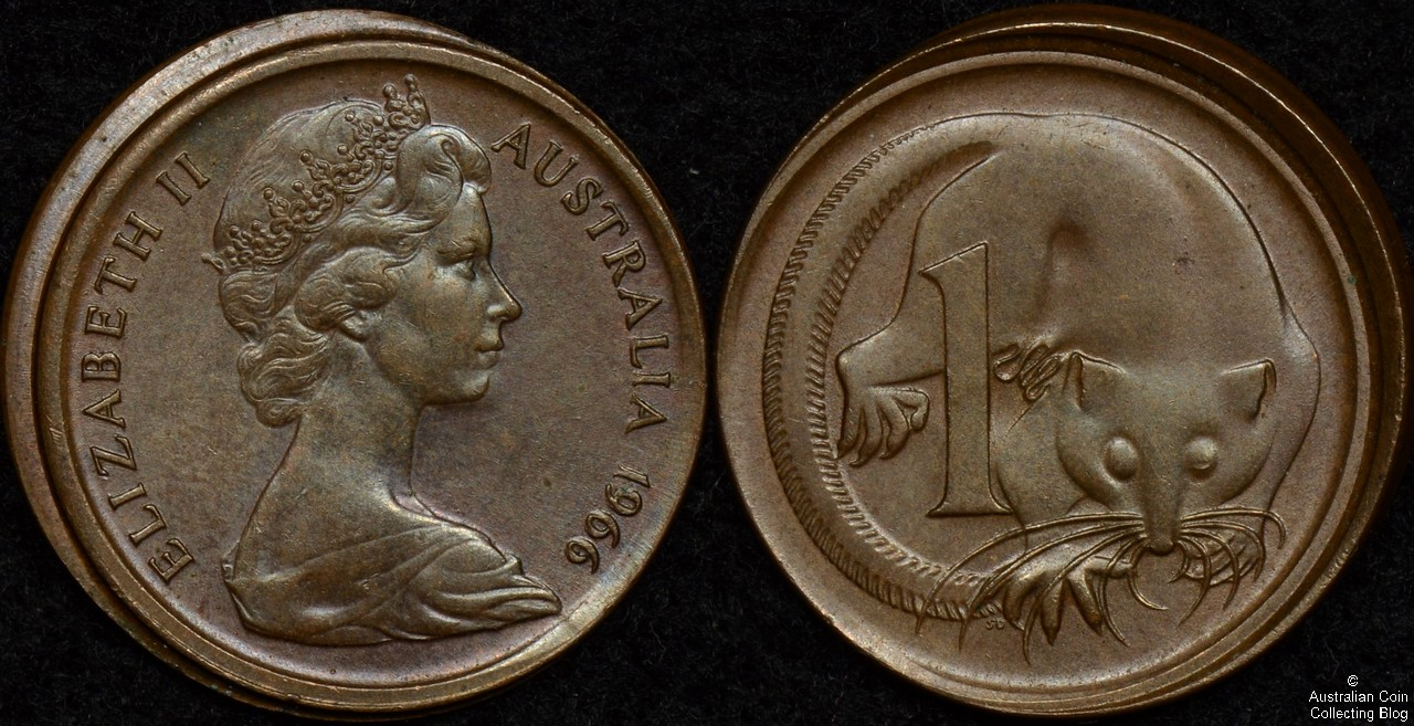 Australia 1966 1 Cent Ramstrike Error