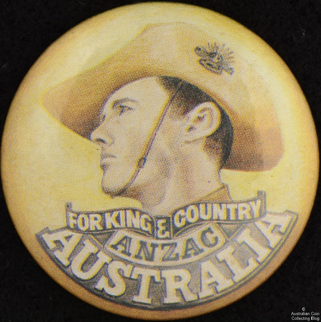 For King and Country ANZAC Australia Tin Badge