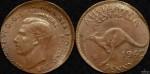 Australia 1943 Penny Double Strike