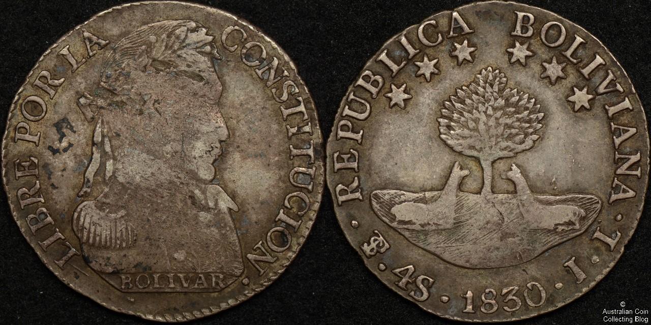 Bolivia 1830 PTS JL  4 Soles