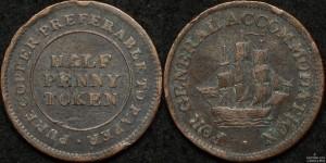 Canada 1813 1/2d Token