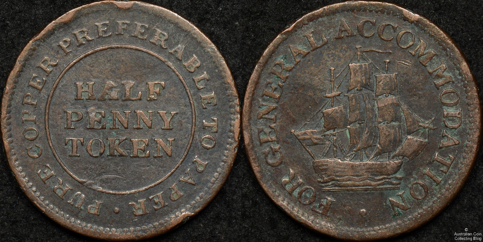Canada 1813 Half Penny Token