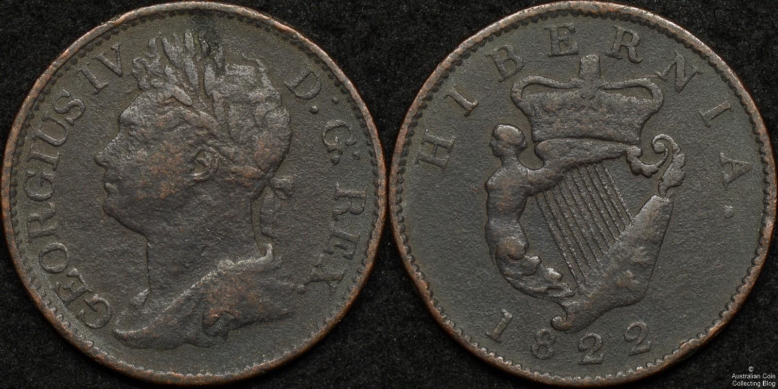 Ireland 1822 Half Penny KM#150
