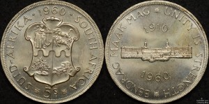 South Africa 1960 5 Shillings Proof Like