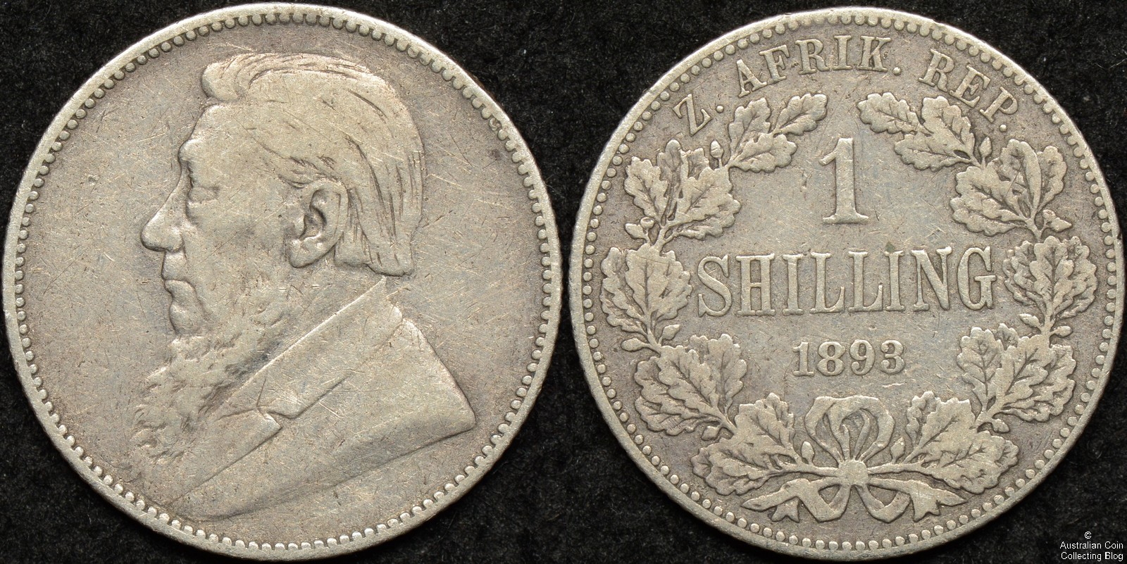 South Africa 1893 Shilling KM#5