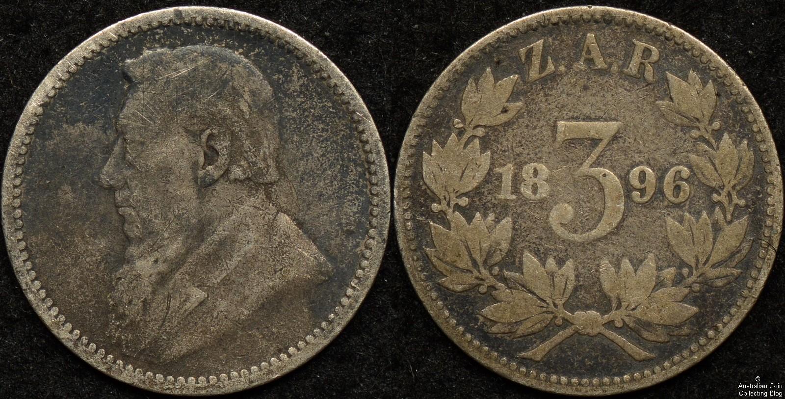 South Africa ZAR 1896 3d