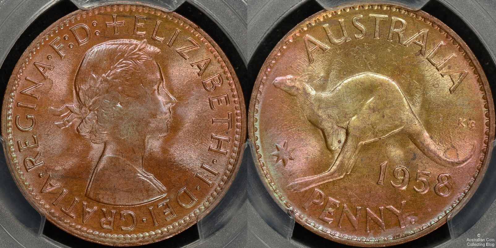 1958y Penny PCGS MS64RB