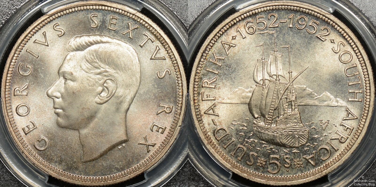 South Africa 1952 5 Shillings PCGS PL67