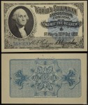 Washington Portrait Souvenir Columbia Exposition Entry Ticket