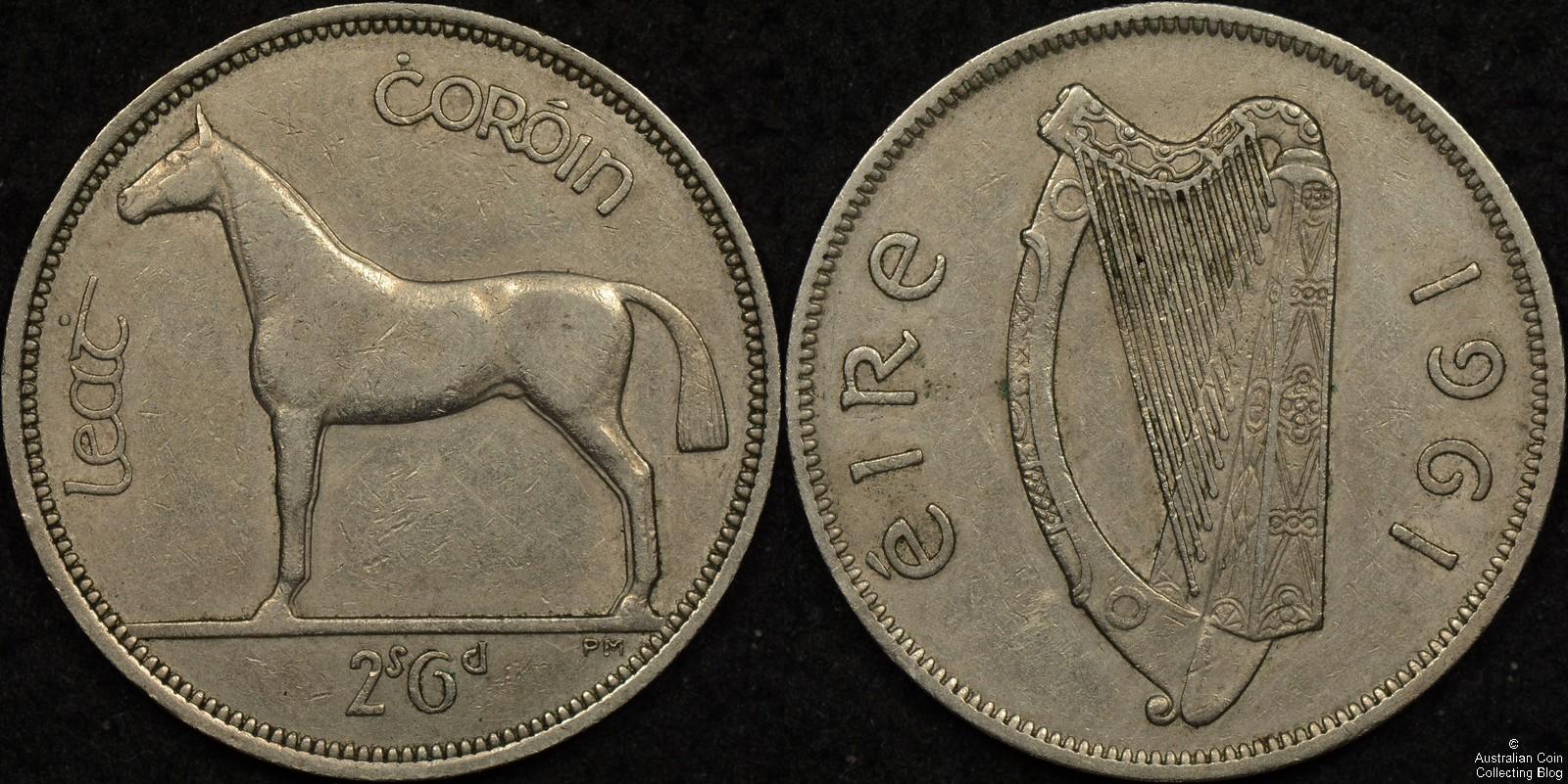 Ireland 1961 Half Crown Mule