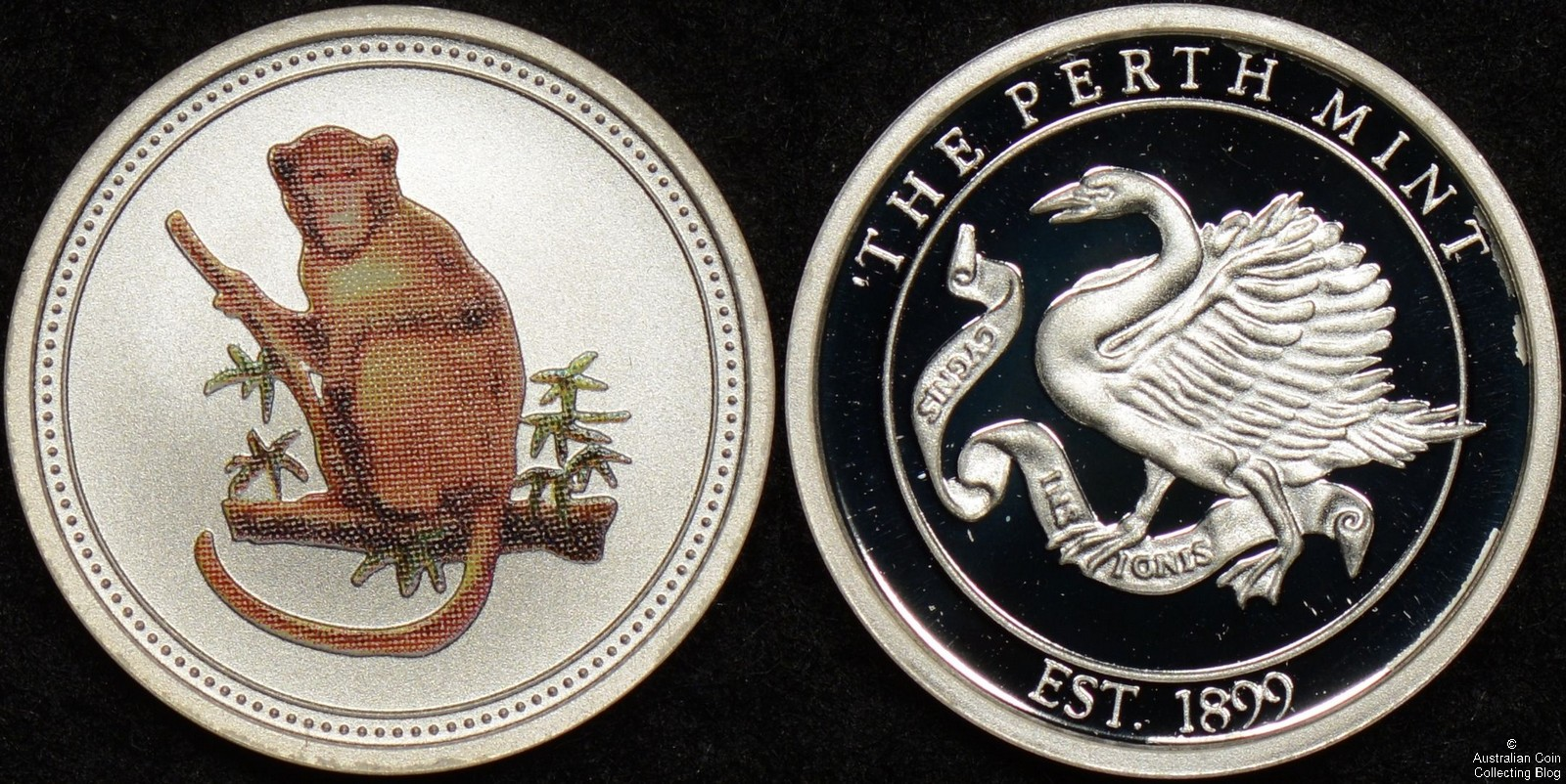 Circa 2004 Perth Mint Silver Monkey Medallion
