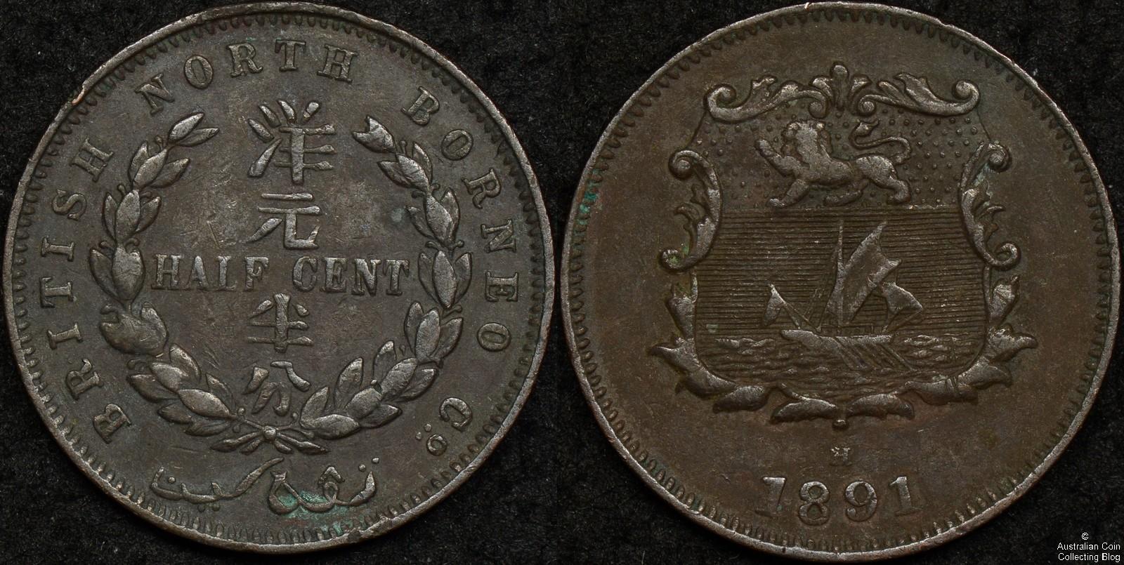British North Borneo 1891H Half Cent