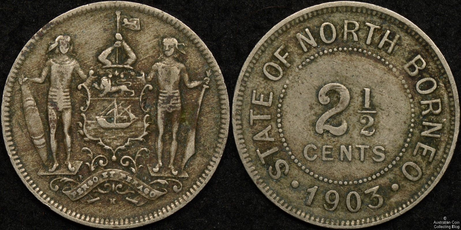 British North Borneo 1903H 2 1/2 Cent KM#5