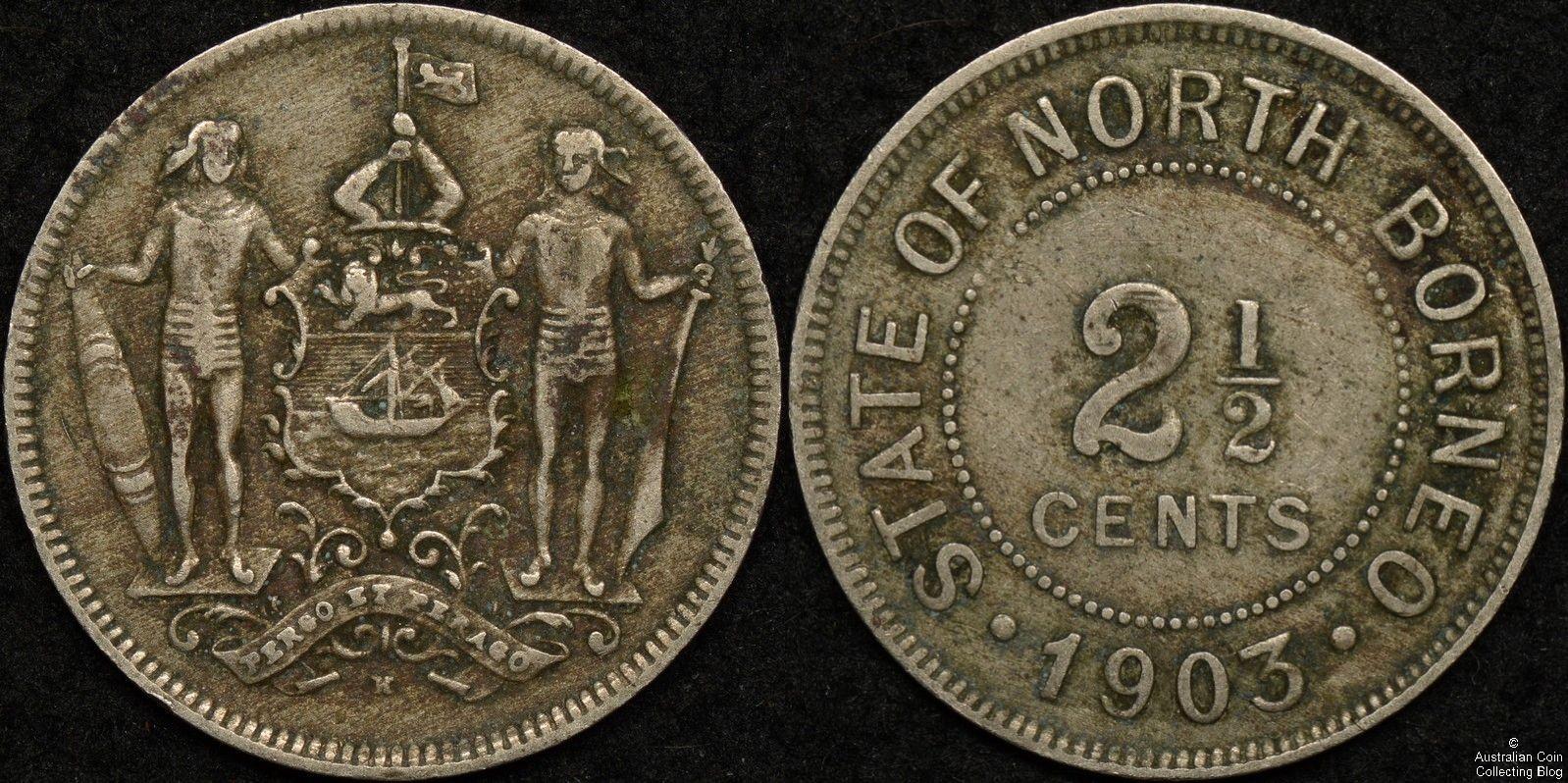 British North Borneo 1903H 2 1/2 Cent