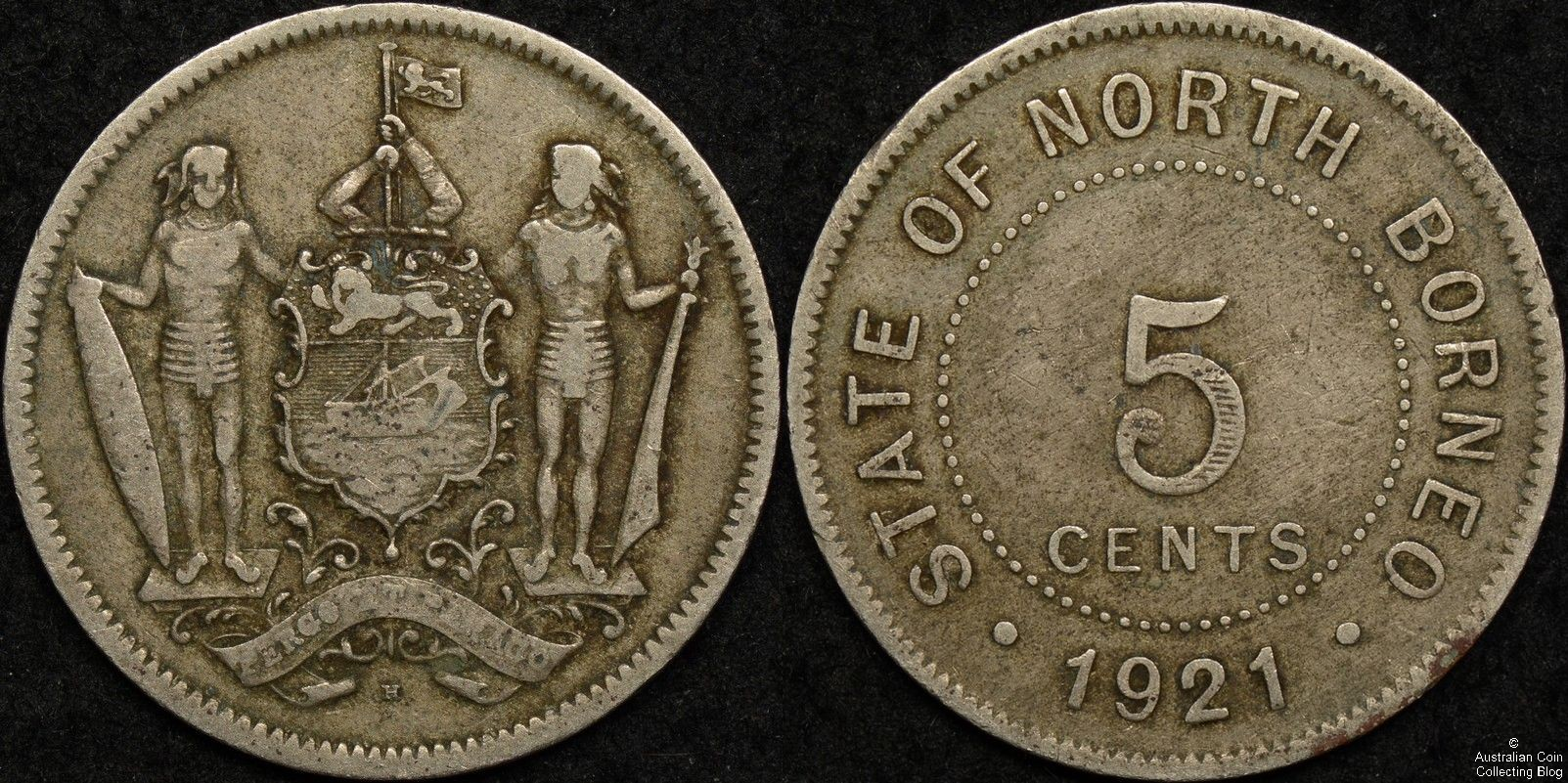 British North Borneo 1921H Five Cent KM#5