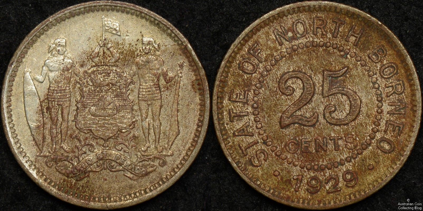 British North Borneo 1929H 25 Cent KM#6