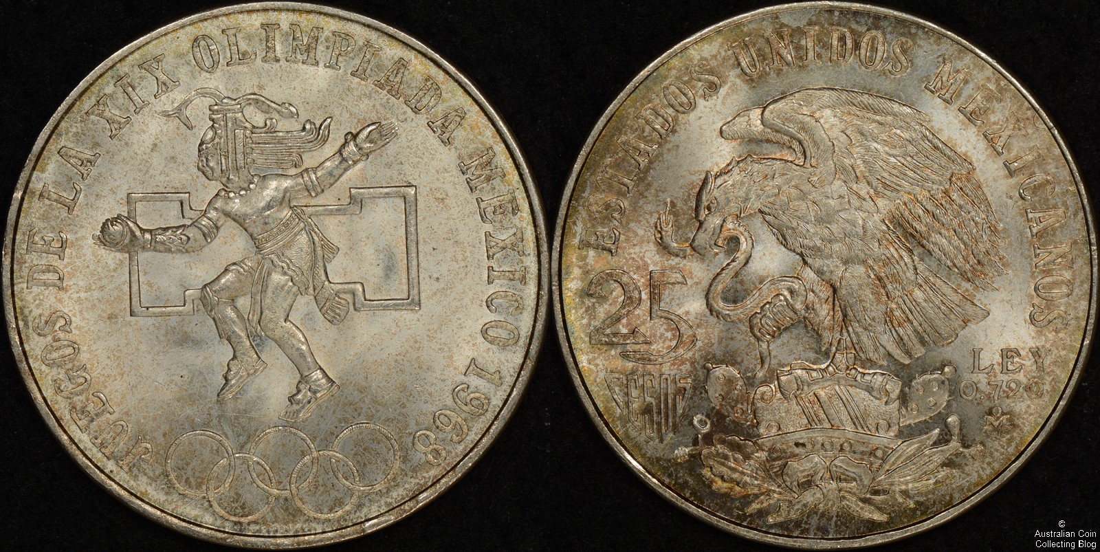 Mexico 1968 25 Pesos KM#479.1
