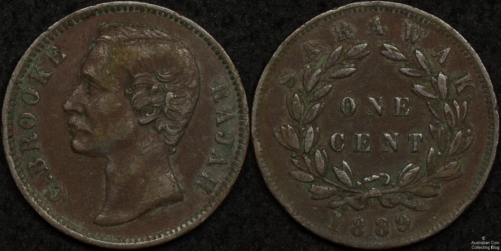 Sarawak 1889H 1c KM#6