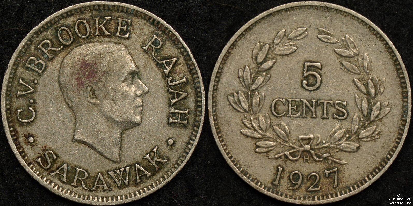 Sarawak 1927H 5c KM#14