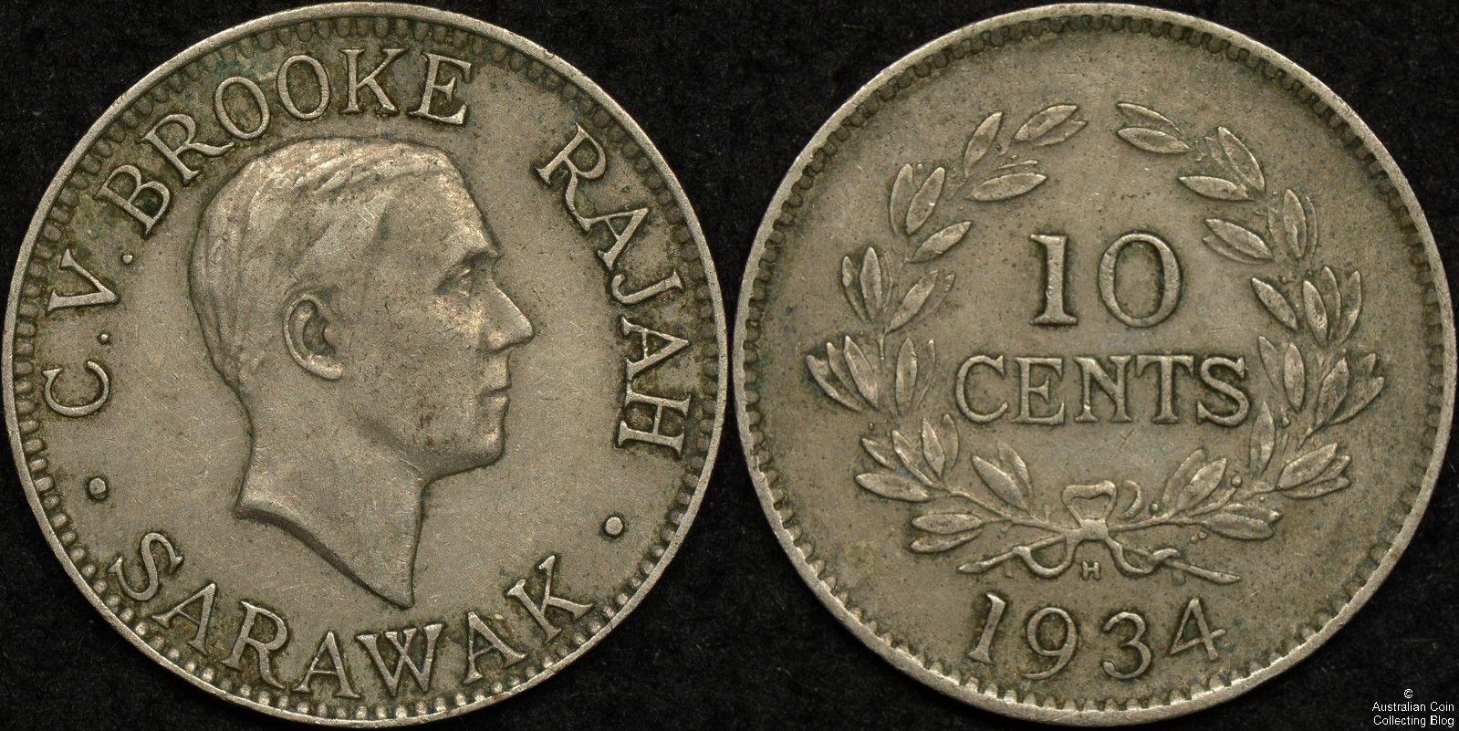 Sarawak 1934H 10c KM#16
