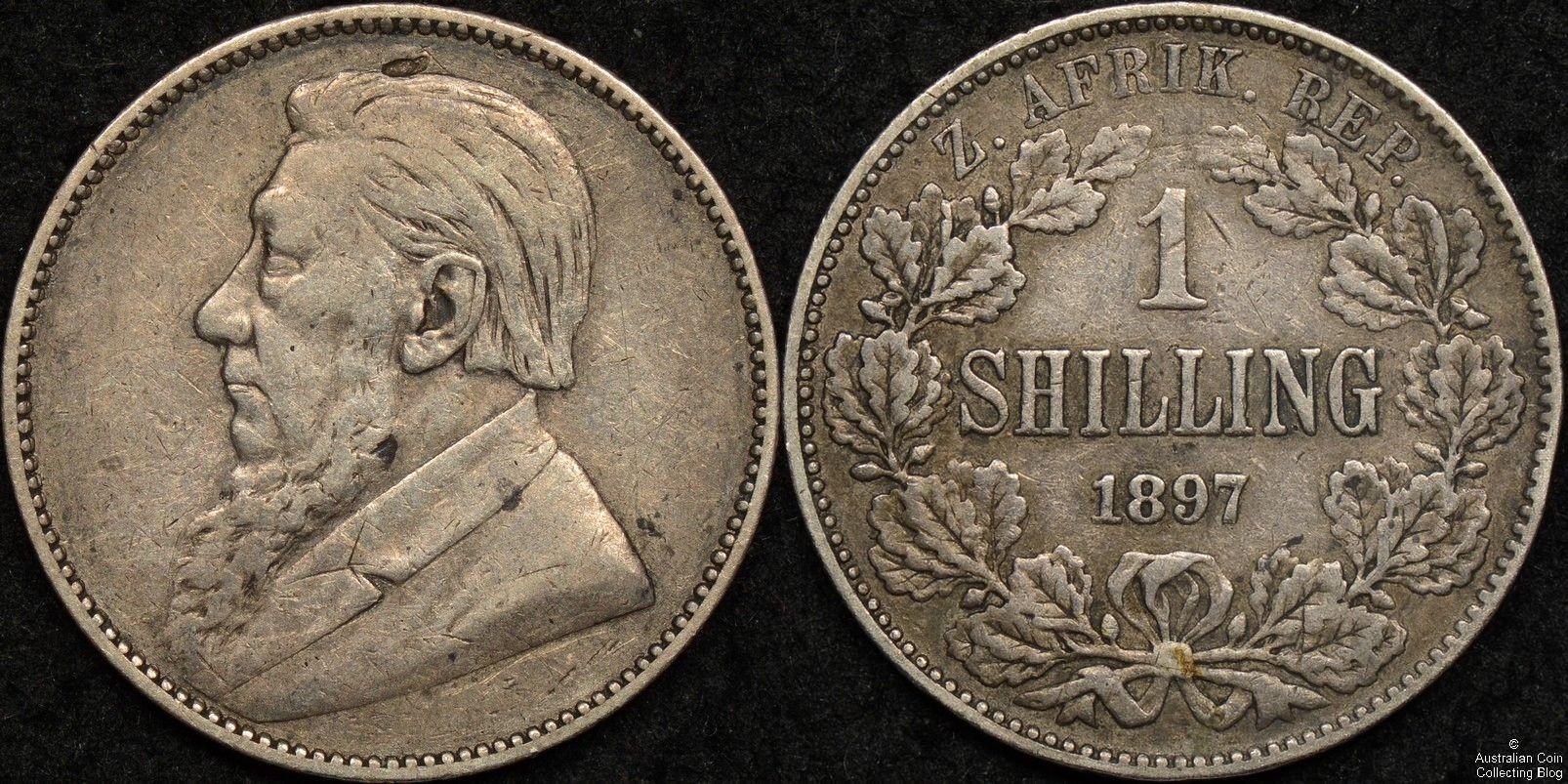South Africa ZAR 1897 1s KM#5