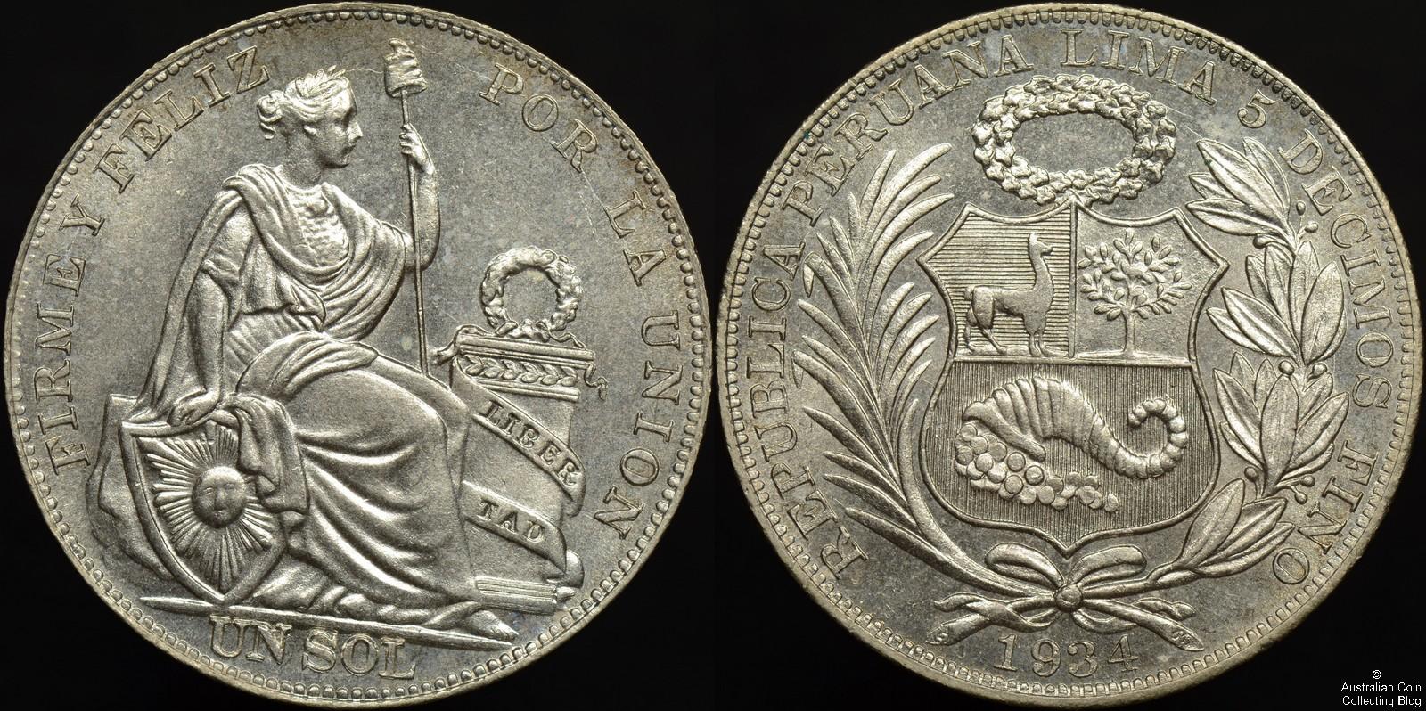 Peru 1934 Peso KM#218.2