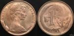 1966 1 cent obverse cud