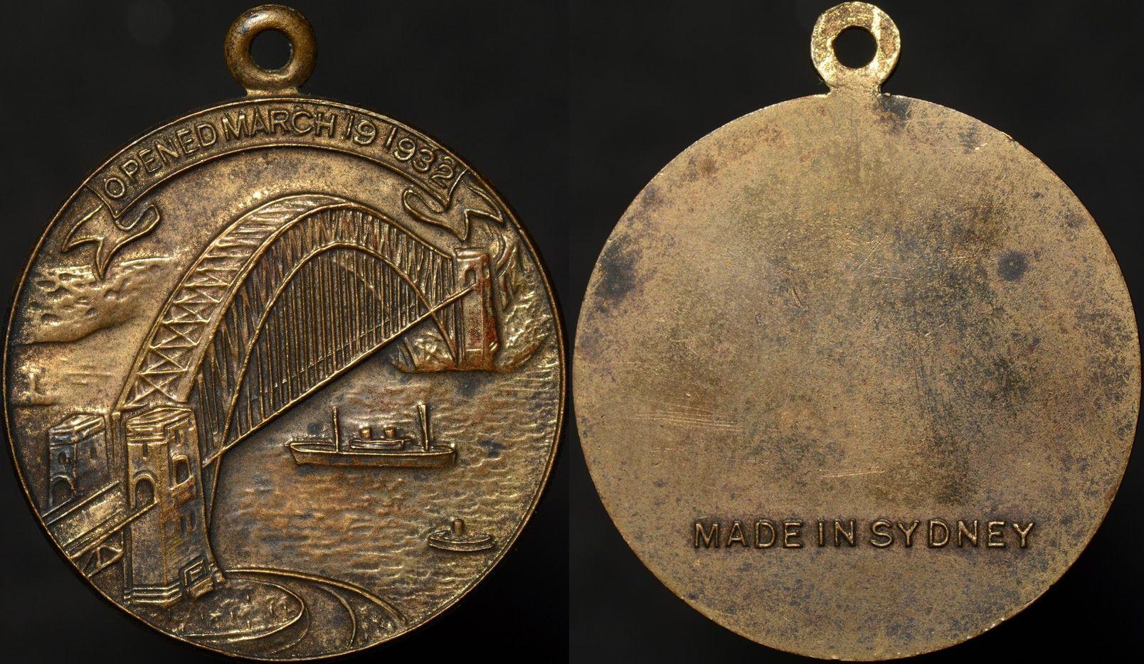 Sydney Harbour Bridge Medal 1932/1