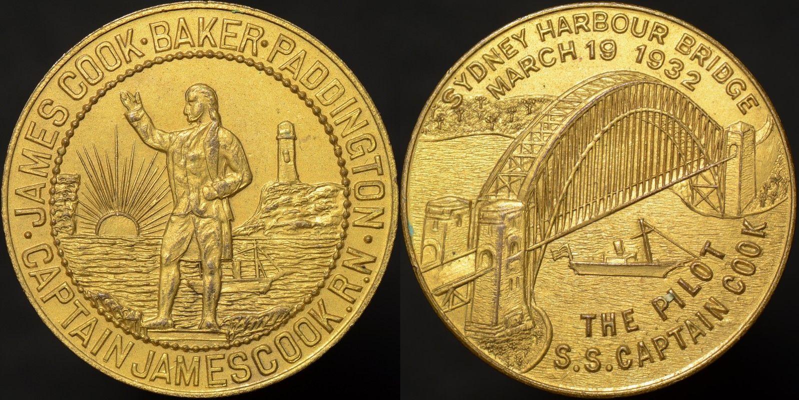 Sydney Harbour Bridge James Cook Baker Paddington Medal 1932/2