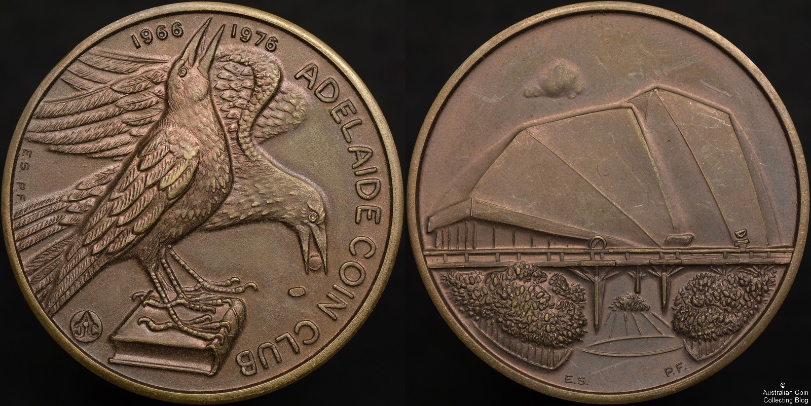 Adelaide Coin Club 10th Anniversary Medallion - 1976