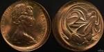 1966 Perth Minted 2 Cent Broadstrike Error Coin