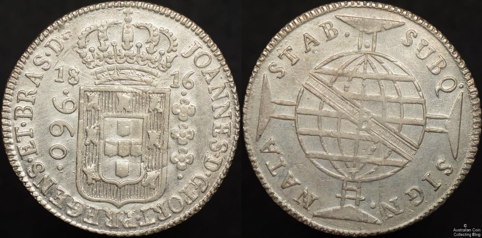 Brazil 1816B 960 Reis Uncirculated