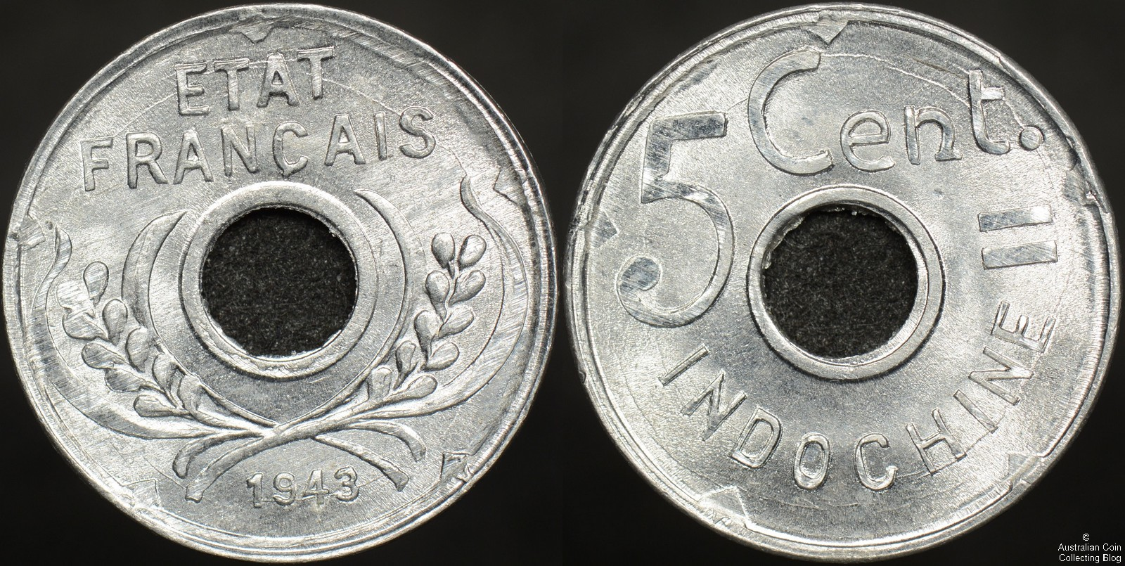 1943 French Indo-China 5c