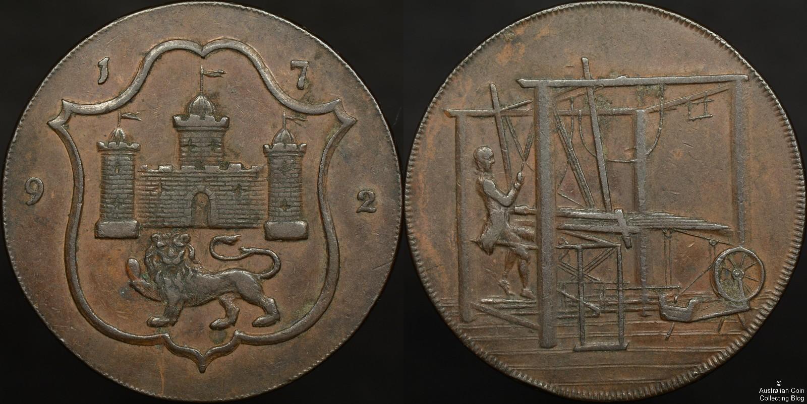 Great Britain 1792 Halfpenny Norwich John Harvey Conder ...