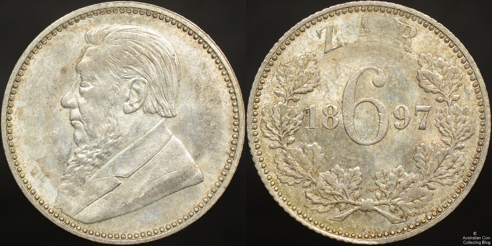 South Africa ZAR 1897 3d KM#3