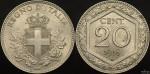 Italy 1918R 20c struck on KM#28